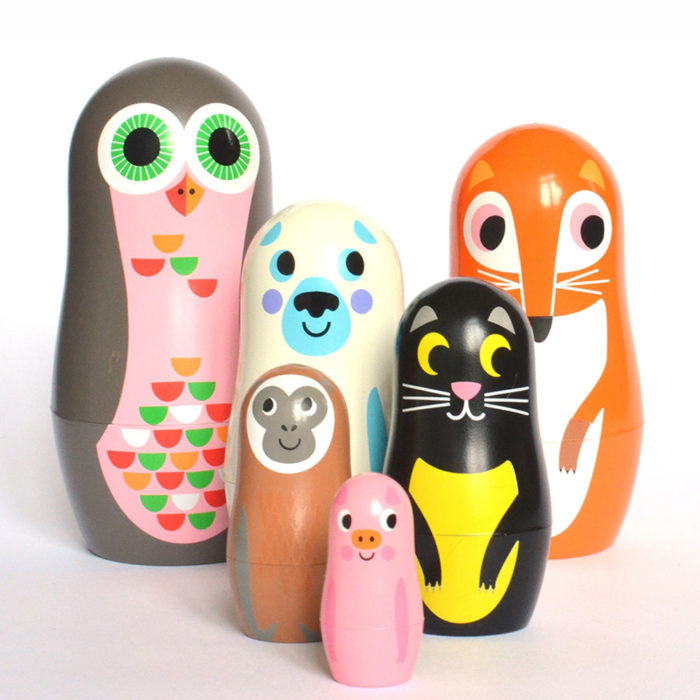 Matryoshka Animals Studio Omm Design auf www.mina-lola.com