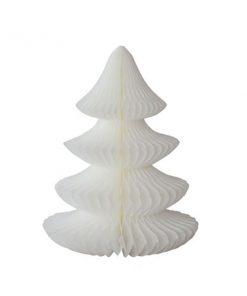 Weihnachtskarte mit weißem Tannenbaum auf www.mina-lola.com