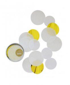 Confetti in weiß-gold auf www.mina-lola.com von ENGEL.