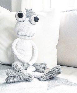 King Froggy in silber-weiß von leggybuddy