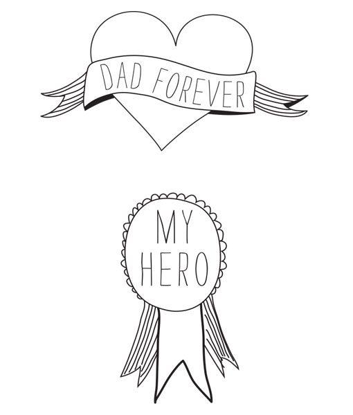 """Dad forever"" Tattoo auf www.mina-lola.com von Tattyoo"