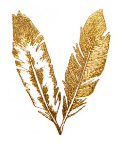 Goldene Federn Tattoo auf www.mina-lola.com