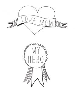Love MOM Tattoo auf www.mina-lola.com von Tattyoo