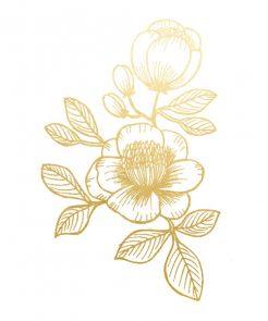 Tattoo goldene Blumen auf www.mina-lola.com von Tattyoo