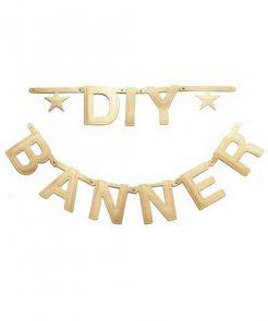 DIY Buchstabengirlande gold von Omm Design auf mina-lola.com