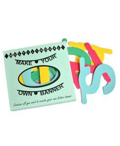 DIY Buchstabengirlande bunt auf www.mina-lola.com von Omm Design