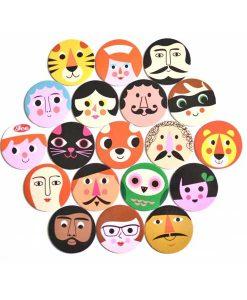 Memory Spiel Gesichter auf mina-lola.com von Omm Design