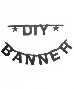 DIY Buchstabengirlande black von Omm Design auf mina-lola.com