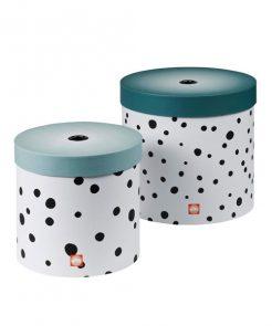 Rundes Boxen-Set Happy dots auf mina-lola.com von done by deer