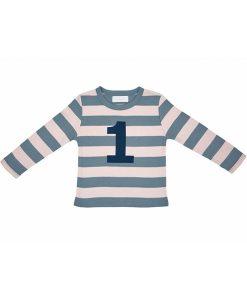 Geburtstagsshirt 1 blau-grau auf mina-lola.com von Bob&Blossom