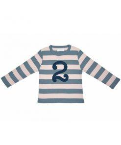 Geburtstagsshirt 2 blau-grau auf mina-lola.com von Bob&Blossom