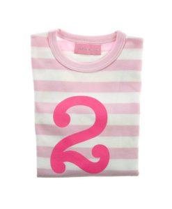 Geburtstagsshirt 2 pink-weiß auf mina-lola.com von Bob&Blossom
