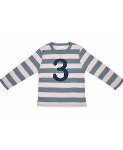 Geburtstagsshirt 3 blau-grau auf mina-lola.com von Bob&Blossom