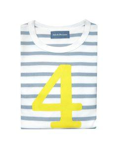 Geburtstagsshirt 4 grau-gelb auf mina-lola.com von Bob&Blossom