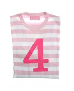 Geburtstagsshirt 4 pink-weiß auf mina-lola.com von Bob&Blossom
