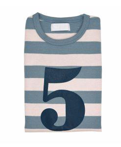 Geburtstagsshirt 5 blau-grau auf mina-lola.com von Bob&Blossom