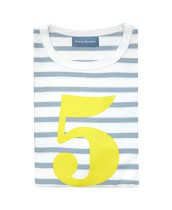 Geburtstagsshirt 5 grau-gelb auf mina-lola.com von Bob&Blossom