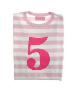 Geburtstagsshirt 5 pink-weiß auf mina-lola.com von Bob&Blossom