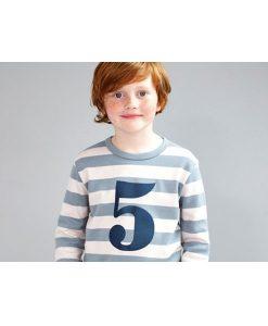 Geburtstagsshirt blau-grau auf mina-lola.com von Bob&Blossom