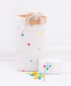 Papiersack Happy Konfetti DIY auf mina-lola.com von Eulenschnitt