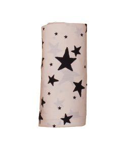 Leintuch schwarze Sterne auf mina-lola.com von Noe&Zoe