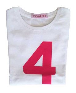 Geburtstagsshirt 4 pink auf mina-lola.com