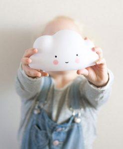 Nachtlicht Wolke weiß auf mina-lola.com von A little lovely company