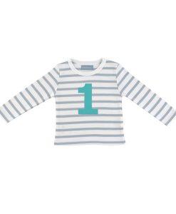 Geburtstagsshirt 1 grau-weiß auf mina-lola.com von Bob&Blossom