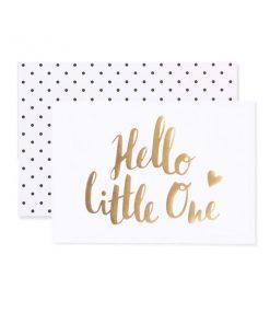 Klappkarte Hello little one auf mina-lola.com von Eulenschnitt