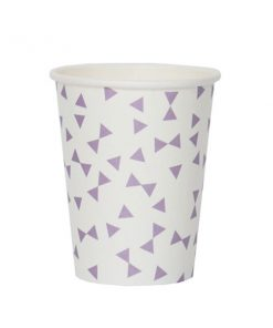 8 Papierbecher Bow lavender auf mina-lola.com von my little day
