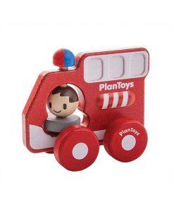 Feuerwehrauto aus Holz auf mina-lola.com von Plantoys