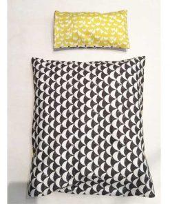 Puppenbettwäsche in gelb/schwarz auf mina-lola.com