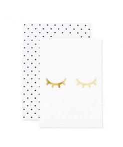 Grußkarte müde Augen auf mina-lola.com von Eulenschnitt