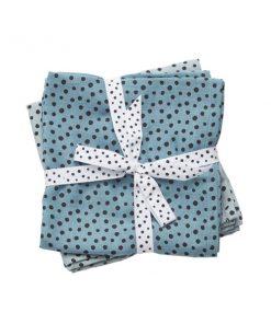 Windeltücher Set Happy Dots blau auf mina-lola.com von done by deer