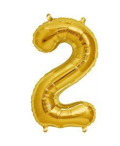 Folienluftballon 2 in gold auf mina-lola.com von Bob&Blossom