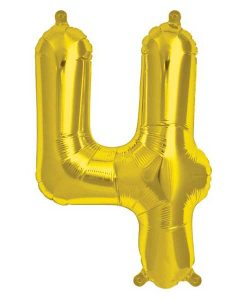 Folienluftballon 4 in gold auf mina-lola.com von Bob&Blossom