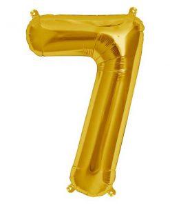 Folienluftballon 7 in gold auf mina-lola.com von Bob&Blossom