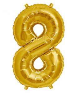 Folienluftballon 8 in gold auf mina-lola.com von Bob&Blossom