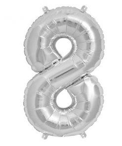 Folienluftballon 8 in silber auf mina-lola.com von Bob&Blossom