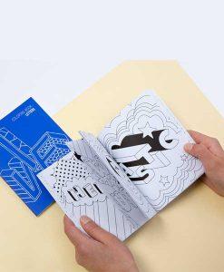 Note & Coloring book LETTERS auf mina-lola.com von OMY