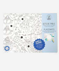 Paper coloring placemats GAMES auf mina-lola.com von OMY