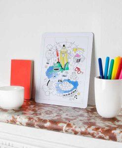 Coloring puzzle FANTASTIC auf mina-lola.com von OMY