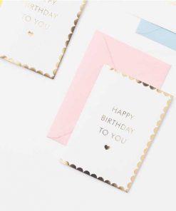 Klappkarte Happy Birthday auf mina-lola.com von Eulenschnitt