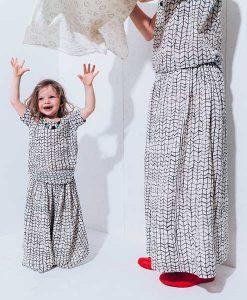 Long Skirt black wave grid Mum auf mina-lola.com von Noé & Zoë