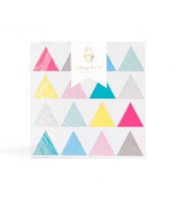 Wandsticker Happy Dreiecke auf mina-lola.com von Eulenschnitt
