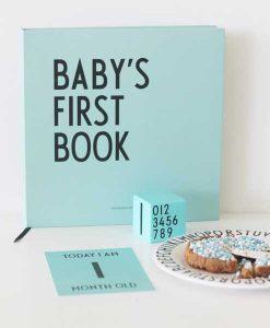 Baby's First Book türkis auf mina-lola.com von Design Letters