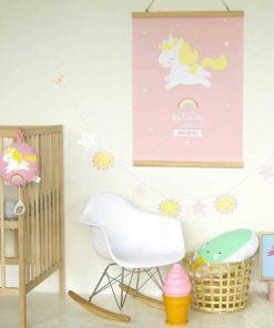 Poster Einhorn auf mina-lola.com von A little lovely company