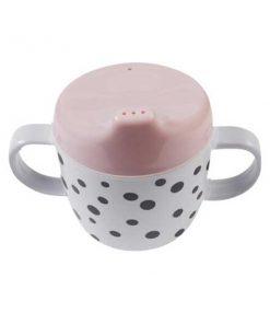 Trinklernbecher Happy dots rosa auf mina-lola.com von done by deer