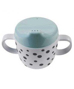 Trinklernbecher Happy dots blau auf mina-lola.com von done by deer