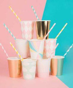 8 Papierbecher Pastell auf mina-lola.com von my little day